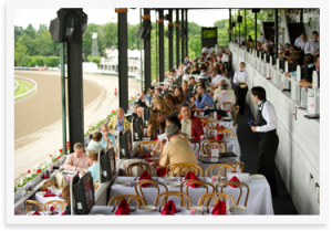 Seating at the Saratoga Race Course