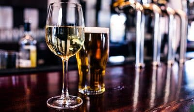 Enjoy a refreshing beer or glass of wine