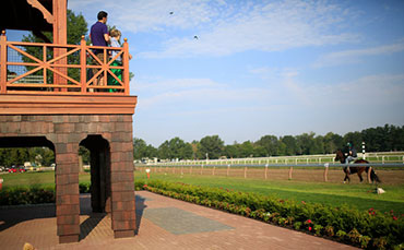 Whitney Viewing Stand at the Oklahoma Thoroughbred Training Racetrack