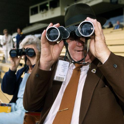 Horse racing spectators