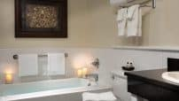 Deep soaking tub at our Romantic NY Bed and Breakfast