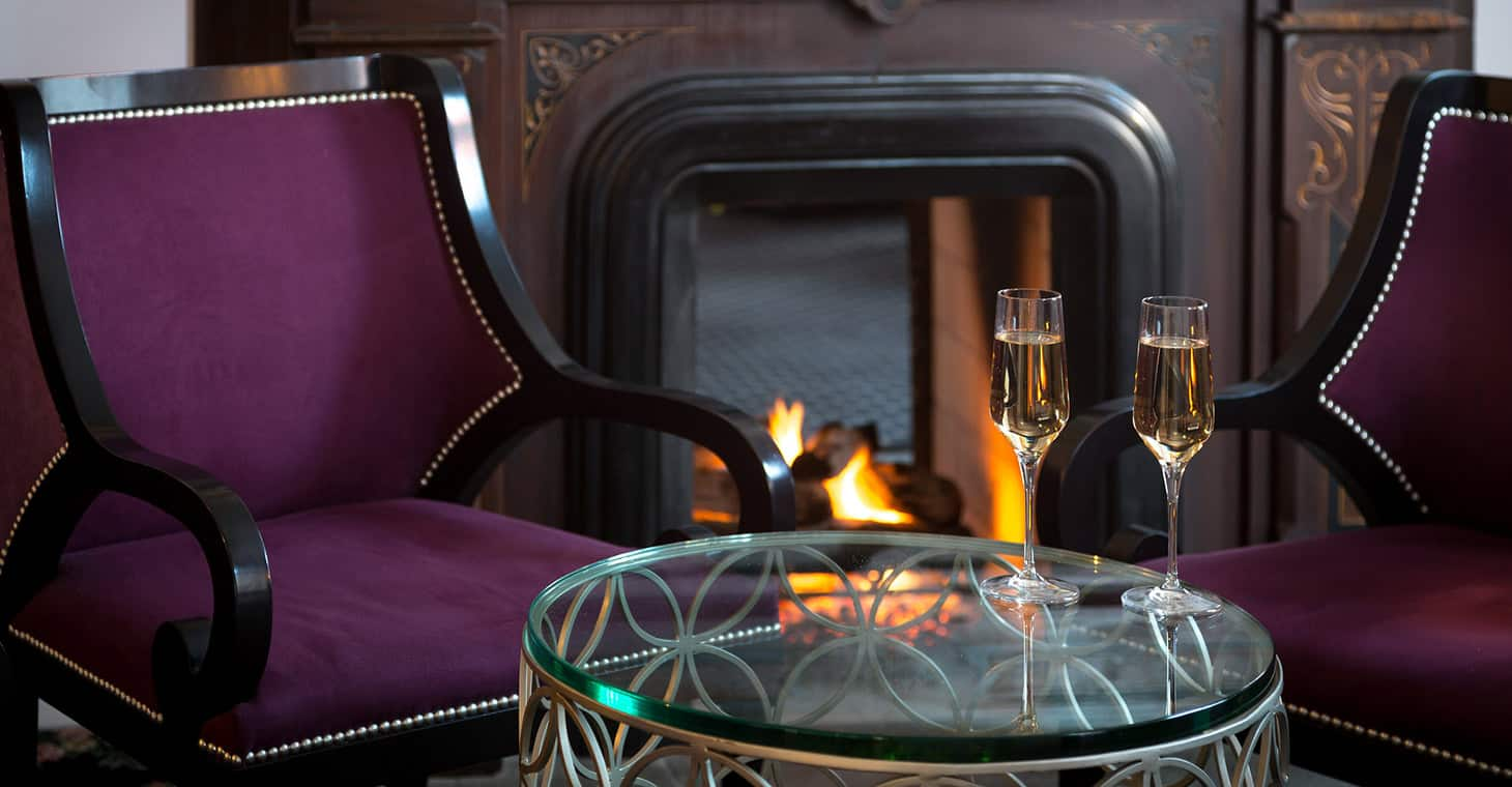 Places to Stay in Saratoga Springs, NY - Champagne by the Fire