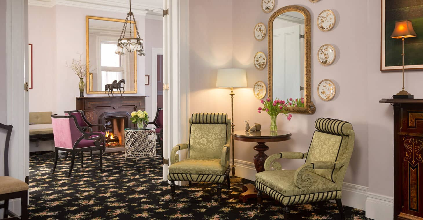 The Parlor at our Saratoga Springs Inn