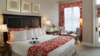 King room at a Saratoga, NY hotel