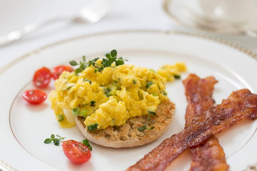 Gourmet farm-to-table buffet breakfast at Saratoga Arms