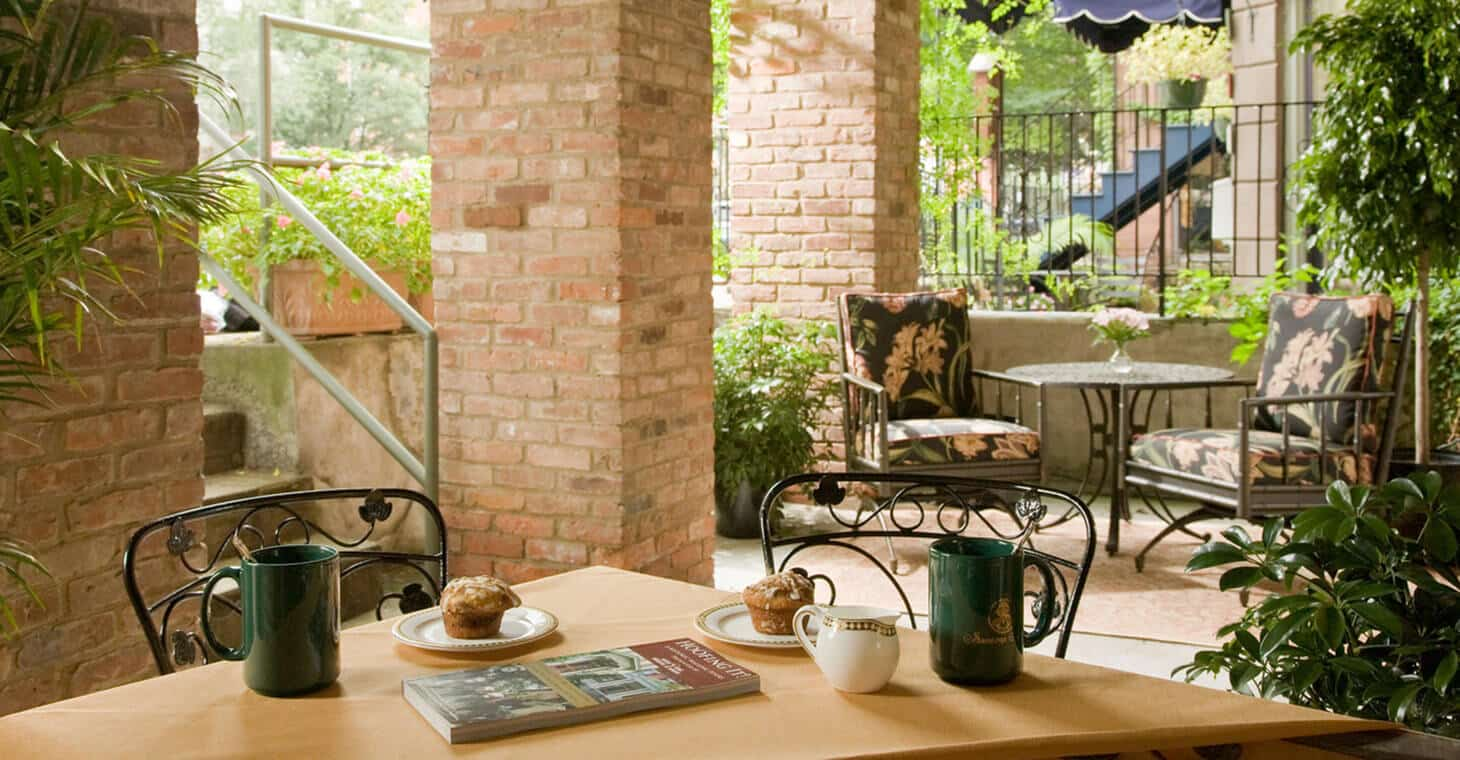 Enjoy coffee on the porch