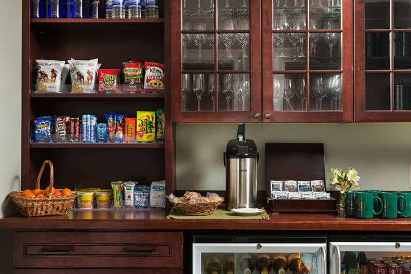 Guest Pantry Stocked with Complimentary Goodies at Saratoga Arms