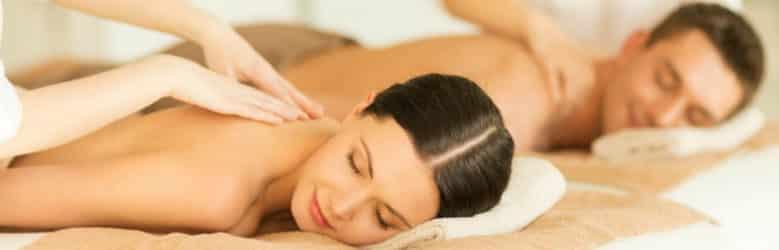 Couple enjoys massage in upstate NY