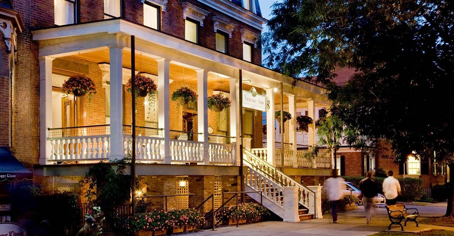Saratoga Springs Ny Hotel In The Evening