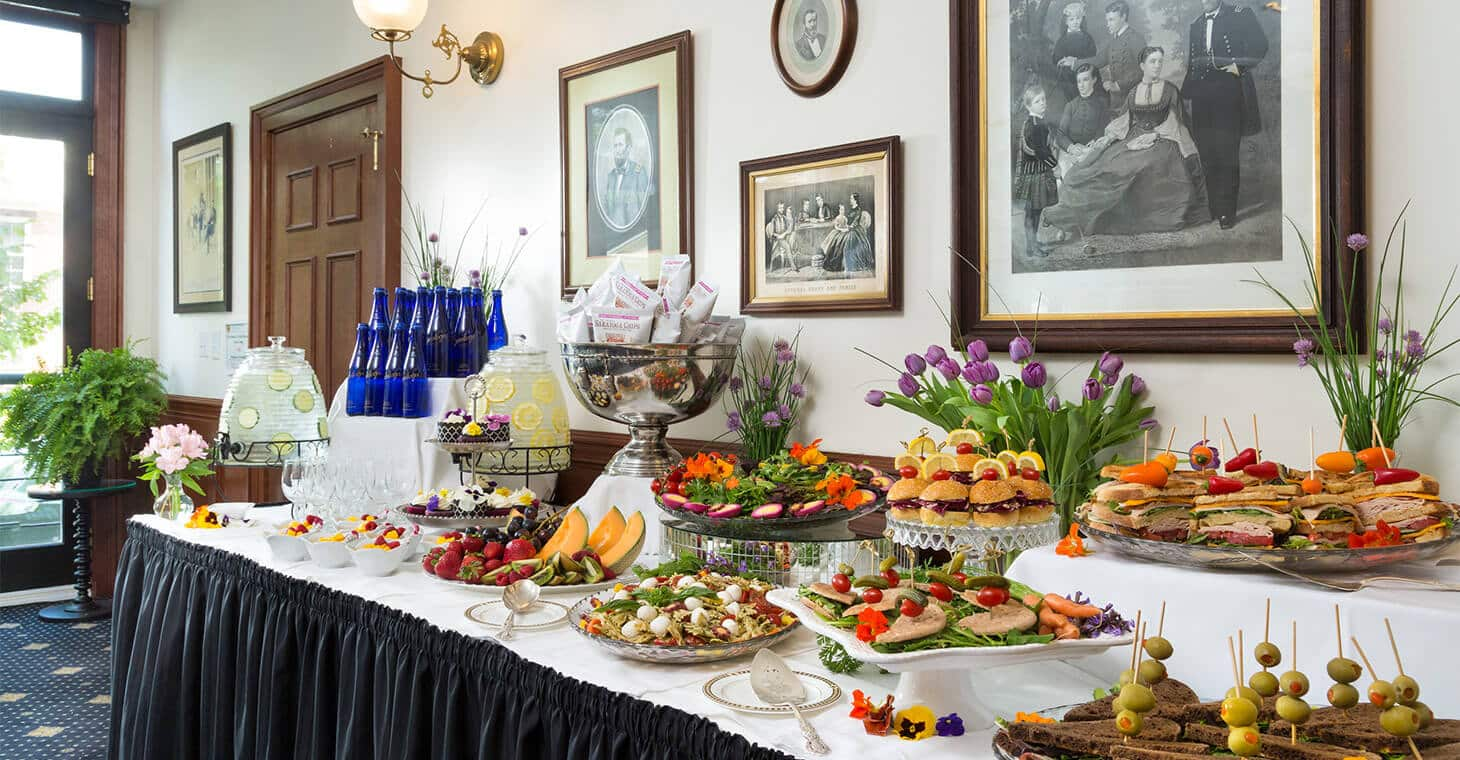 Buffet of Food at a Meeting in Saratoga Springs, NY